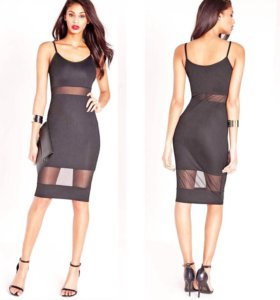 Красивое платье с шифоновыми вставками 42-44-46р