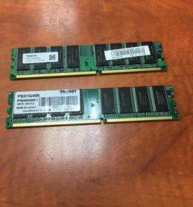 Память DDR 1GB X 2 модуля