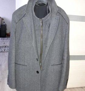 Пальто мужское, шапка в подарок
