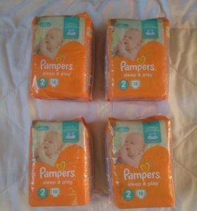 Подгузники Pampers 2 (72 шт)