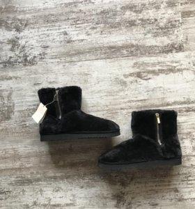 Ботинки зимние, страдивариус, 37 размер,новые