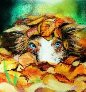Рисунки пастелью а4