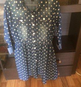 Платье джинс стрейч,с карманами,торг