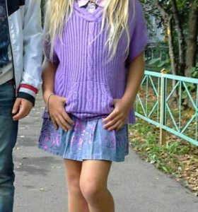 Пончо на 7-9 лет