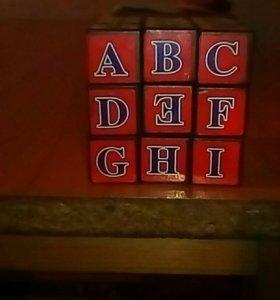 Кубик рубик с английским языком
