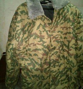 Куртка комуфляжная теплая