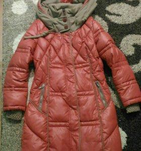 Пуховик( куртка) зимний +сумка