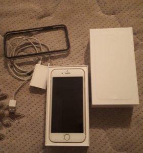 iphone 6 16 ГБ цвет белo-золотой