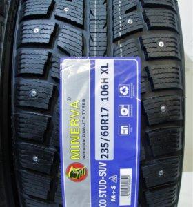 235/60/17 Зимние новые шины r17 Minerva Eco Stud