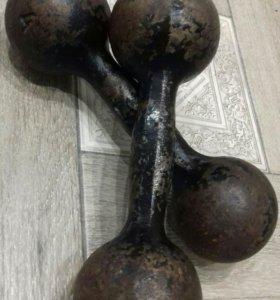 Гантели литые 2×4 кг