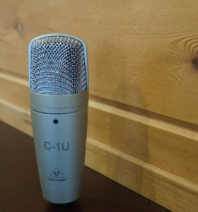 Behringer C-1U USB + поп.фильтр и стойка