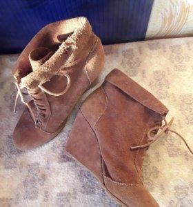 Ботинки, ботильены, натуральная замша 40р