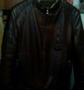 Кожаная куртка зимняя р58