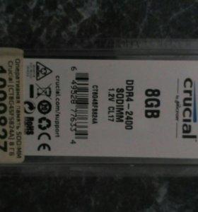 Crucial 8 gb ddr4 - 2400 sodimm