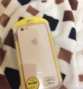 Стеклянный чехол на iPhone 6+