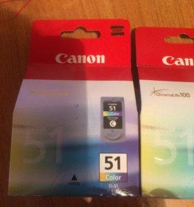 Картридж струйный Canon CL-51 (цветной)