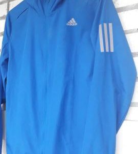 Ветровка беговая Adidas Pesponse Hooded Wind Blue