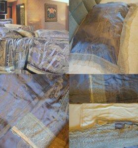 Постельное белье, жоккардовый шелк с сатином
