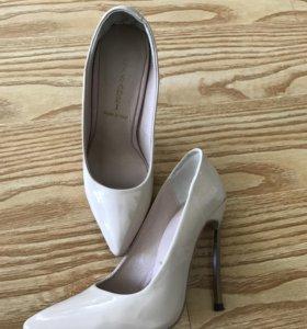 Туфли на металлическом каблуке копия-Lux