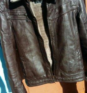 Кожаная куртка (теплая)