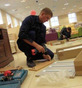 Сборка мебели, конструкции, любые работы по дому