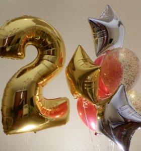 Оформление воздушными шарами. Закачка шаров гелием