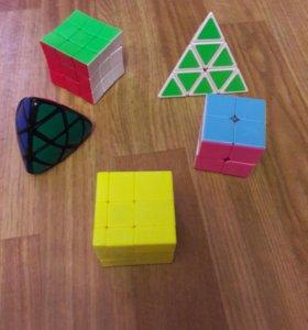 Кубика рубика: 2×2,3×3,3×3,пирамида,пираморфикс.
