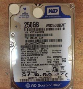 """Жесткий диск WD 250GB Sata II 2,5"""""""