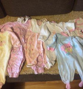 Вещи пакетом для девочки 0-3 месяца
