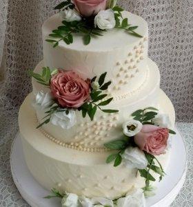 Свадебный торт на заказ!