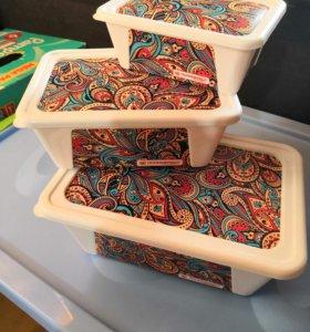 Набор шкатулок для хранения мелочей пластик