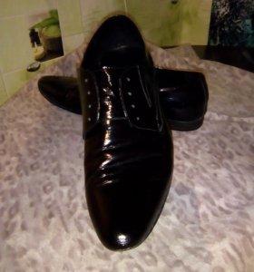 Туфли, натуральная кожа, р.41
