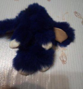 Мягкая игрушка зайчик синий