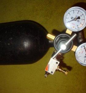 CO2 баллонная система для Аквариума.