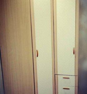 Трельяж с зеркалом и угловой шкаф+пенал
