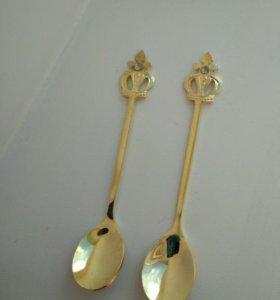 Пара Ложка с короной десертная чайная ложечка
