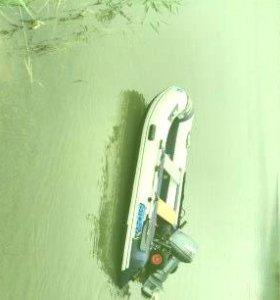 Лодка Solar380 мотор Ямаха 9.9