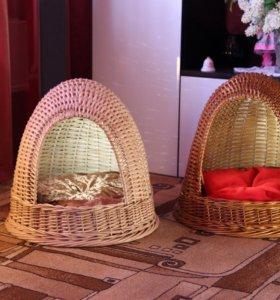 Плетеный домик для кота