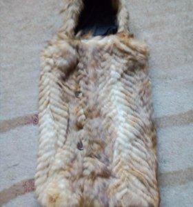 Зимний конверт из лисьей шубы