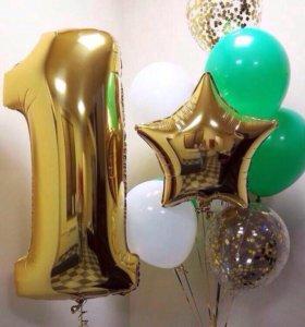 Надуем воздушные шары с гелием