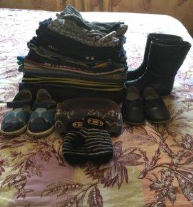Продам набор детских вещей, обуви