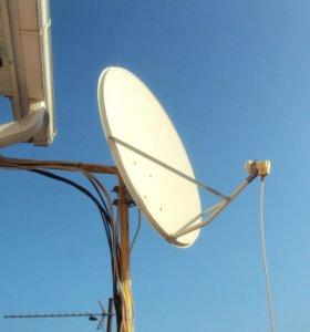 Установка спутниковых и эфирных антенн,телевизоров