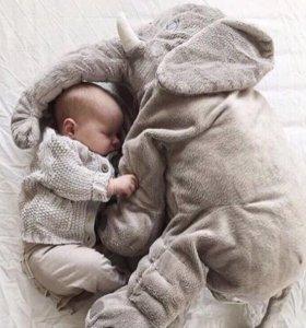 Подушка-игрушка слон с пледом