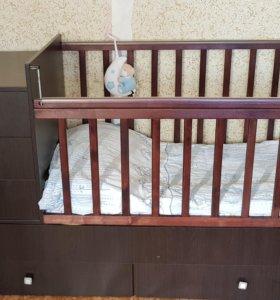 Кровать - трансформер детская Фея 1100 с маятником