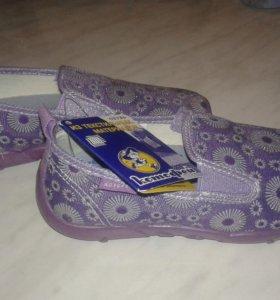 Новые Туфли-слипоны для девочки (Котофей)