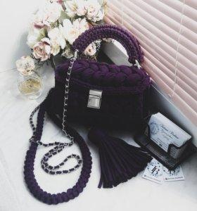 Вязаная женская сумка Зефирка