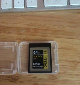 XQD card 64gb