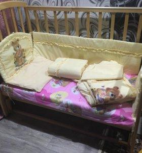 Детская кроватка Фея с маятником