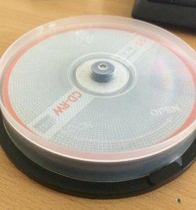 Диски CD-RW, 10 шт. CD диск. Новые.