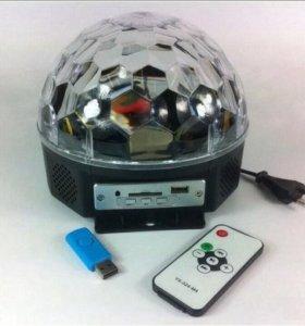 Проектор диско шар c MP3 плеером